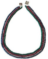Akstar Multi-Strand Gemstone Handmade Beaded Necklace, Onyx Faceted Beads, Blue/Green/Red