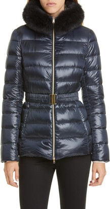 Herno Claudia Down Jacket with Genuine Fox Fur Trim