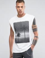 Selected Printed Sleeveless T-Shirt