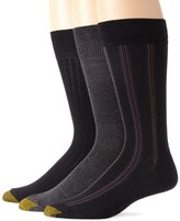 Gold Toe Men's Classic Stripe 3-Pack Dress Socks