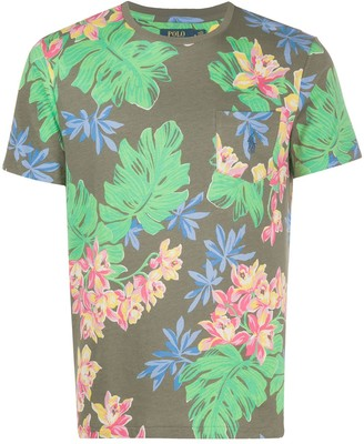 Polo Ralph Lauren crew neck tropical print T-shirt