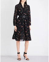 Mo&Co. Printed chiffon dress