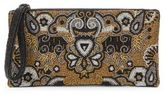 Mary Frances Beaded Top-Zip Clutch