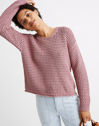 Madewell Open-Stitch Austen Pullover Sweater