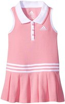 adidas Pleated Polo Dress (Baby) - Light Pink - 9 Months