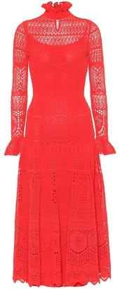 Alexander McQueen Cotton-blend lace midi dress