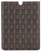 Dolce & Gabbana Leather Leaf Print Tablet Case w/ Tags
