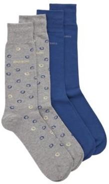 HUGO BOSS Two Pack Of Regular Length Socks In A Cotton Blend - Black
