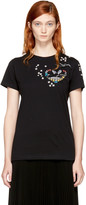 Valentino Black Beaded Tattoo T-Shirt