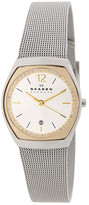 Skagen Women's Asta Crystal Top Ring Two-Tone Watch