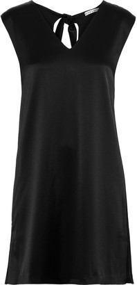 Alice + Olivia Carita Tie-back Satin-crepe Mini Dress