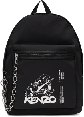 Kenzo Black Limited Edition Chinese New Year Kung Fu Rat Backpack