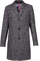 Ted Baker Men's Rich Boucle Herringbone Overcoat