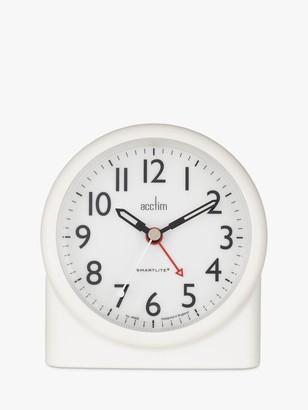 Acctim Blake Smartlite Sweep Analogue Alarm Clock, White