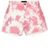 Alanui Tie-dye denim shorts