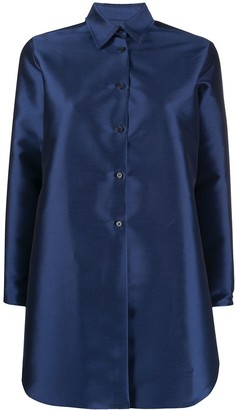 Alberto Biani Long-Sleeved Satin Shirt