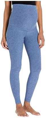 Beyond Yoga Maternity Empire Waisted Spacedye Midi Leggings (Black/White) Women's Casual Pants