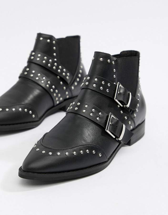 1d60ee89c187 Asos Buckle Ankle Boots - ShopStyle