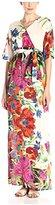 Melissa Masse Women's Flutter Sleeve Printed Maxi