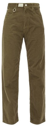 Raf Simons Straight-leg Cotton-corduroy Trousers - Brown