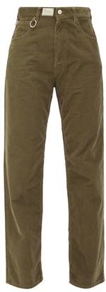 Raf Simons Straight-leg Cotton-corduroy Trousers - Womens - Brown