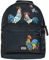 Dolce & Gabbana Rooster Printed Nylon Backpack