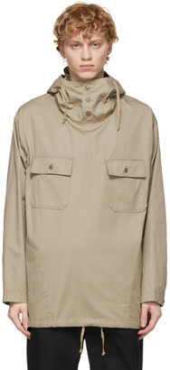 Engineered Garments Beige Twill Cagoule Hooded Shirt