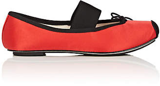 Repetto Women's Caterin Satin Ballet Flats - Red