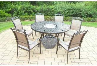 Basile August Grove 7 Piece Dining Set August Grove Color: Coffee