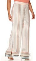 Bisou Bisou Palazzo Flare Pants with Slits - Plus
