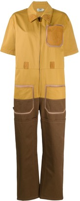 Fendi Two-Tone Utility Jumpsuit