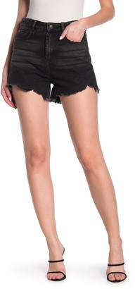 Tractr High Rise Whiskered Shorts