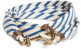 Brooks Brothers Kiel James Patrick Blue and White Seersucker Lanyard Hitch Cord Bracelet