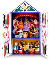 Folk Art Retablo Peruvian Nativity Scene, 'Chapel of Santa Ana'
