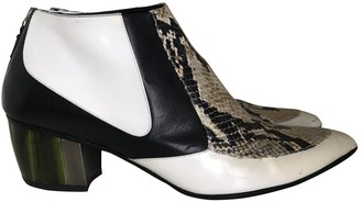 Rodarte \N White Leather Ankle boots