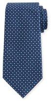 Armani Collezioni Woven Micro-Neat Silk Tie, Teal