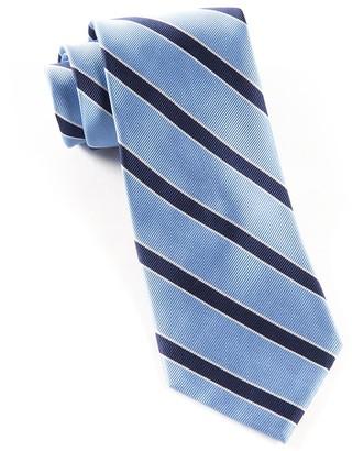 Tie Bar Honor Stripe Light Blue Tie