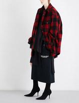 Vetements Flannel wool-blend shirt