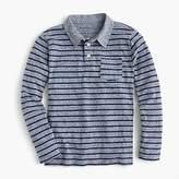 J.Crew Boys' striped long-sleeve polo