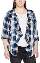 Evans Women's Check Cover up Shrug