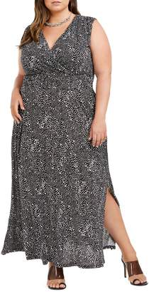 INC International Concepts Plus Smocked Maxi Dress