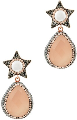 Bellatrix Soru Jewellery Rose Quartz Earrings