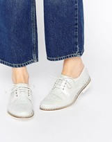 Miista Hayley Lace Up Leather Flat Shoes