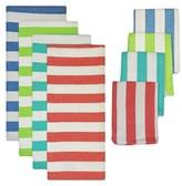 Nobrand No Brand Cabana Stripe Heavyweight Dishtowel and Dishcloth Set - Multi-Colored