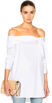 Tibi Off Shoulder Bow Top