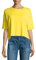 Rag & Bone Alexa Pima Baby Tee, Bright Yellow