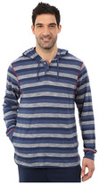 Tommy Bahama Heather Cotton Modal Feeder Stripe Knit Long Sleeve Hoodie