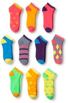 Modern Heritage Women's Star Combo Low Cut Sock 10-Pack - Bright Pink 9-11