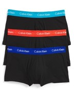 Calvin Klein Men's 3-Pack Stretch Cotton Low Rise Trunks