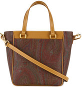 Etro trapeze bodied, paisley patterned shoulder bag - women - Calf Leather - One Size